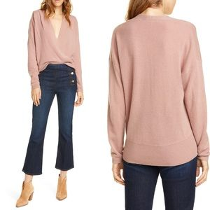 NWT Frame Cashmere Criss Cross Sweater